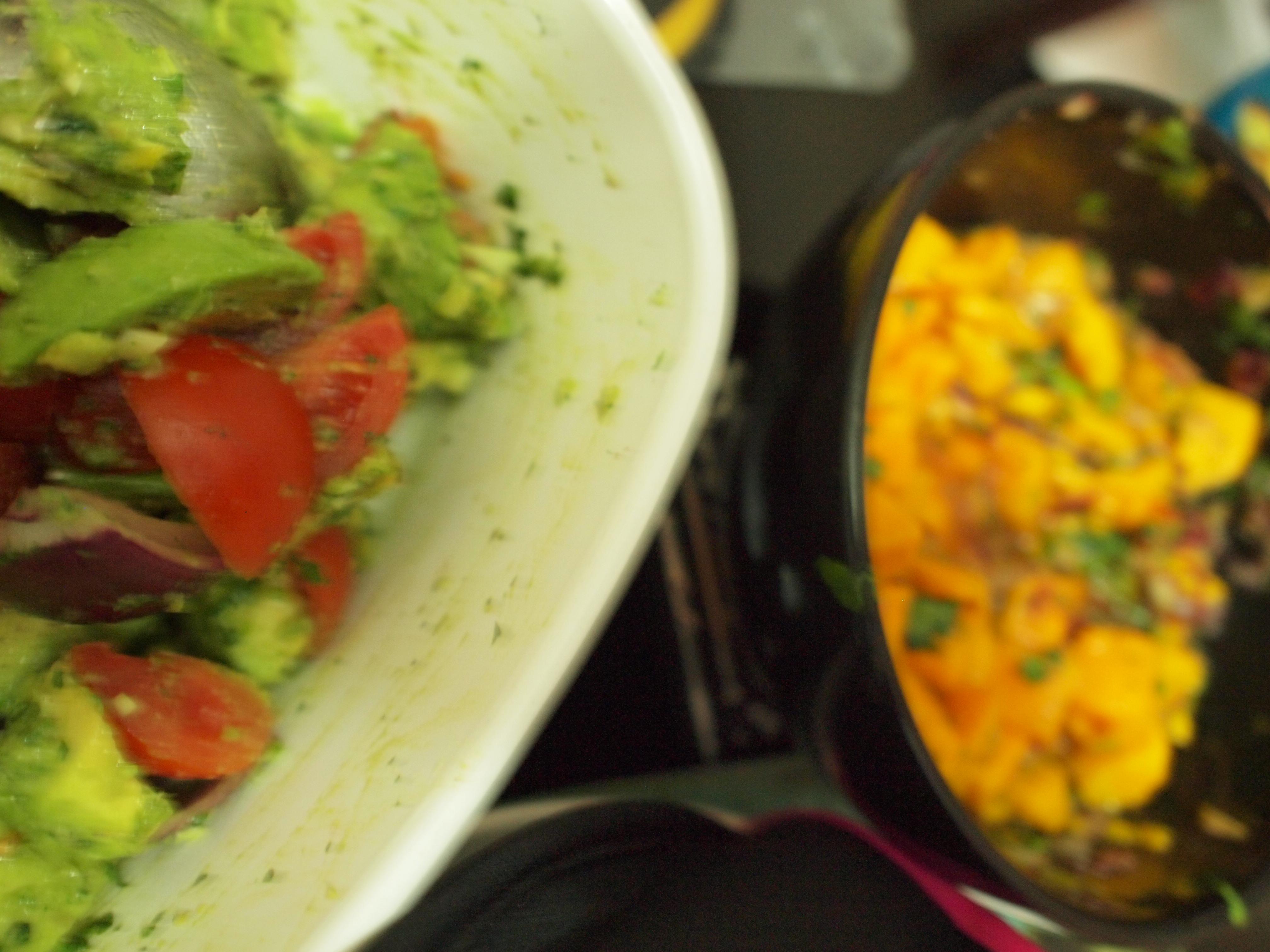 Mango Salsa and Guac