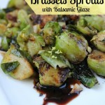 Brussels Sprouts Lemon Garlic Glaze-Healy Real Food Vegetarian