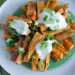 Loaded Sweet Potato Fries- The Sprouting Seed