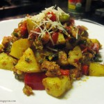 Roast Potato Brussel Sprouts and Bell Pepper with Sausage- The Rising Spoon