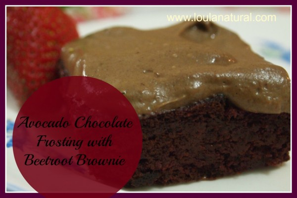 Avocado Chocolate Frosted Beetroot Brownie