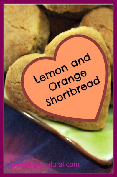 Lemon and Orange Shortbread Loula Natural