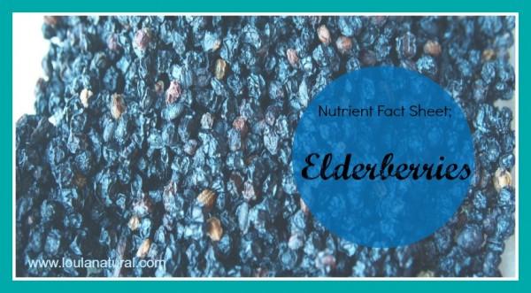 Nutrient Fact Sheet Elderberries Loula Natural