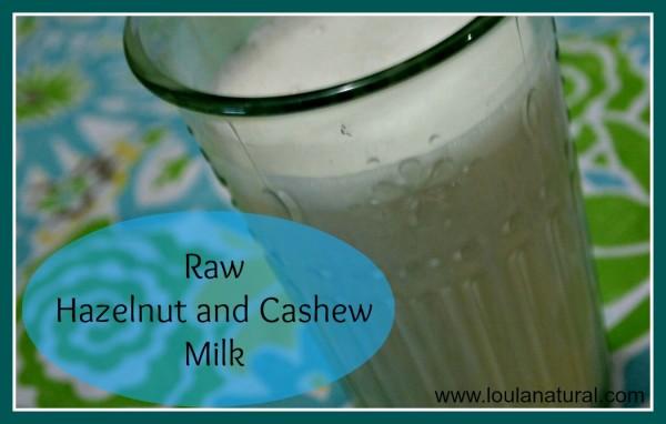 Raw Hazelnut and Cashew Milk Loula-Natural