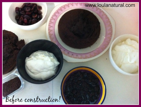 before construction of black forest gateaux Loula Natural