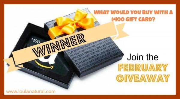 February giveaway winner