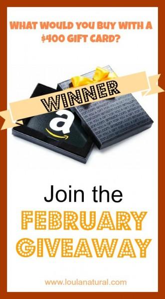 February giveaway winner Loula Natural