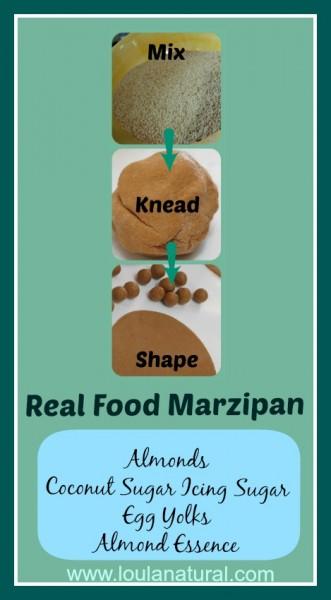 Real Food Marzipan Loula Natural Pin