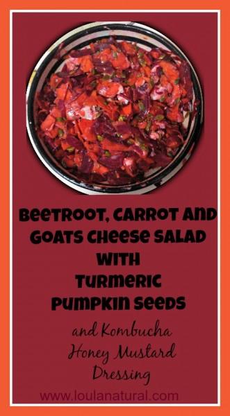 Beet carrot and goats cheese salad Loula Natural pin