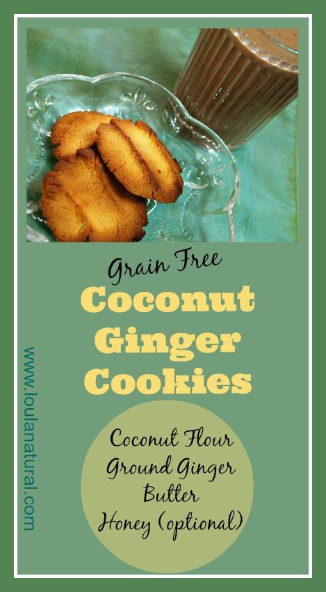 Coconut Ginger Cookies Loula Natural Pin