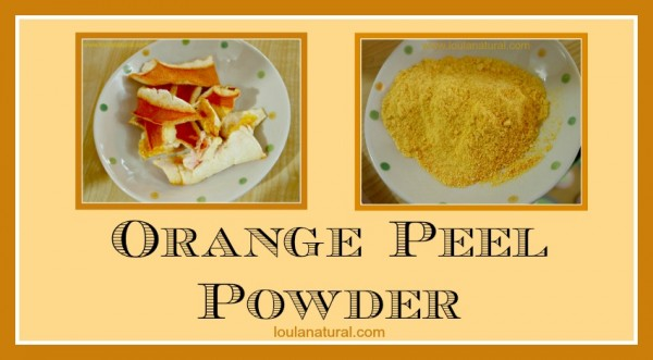 Orange Peel Powder Loula Natural