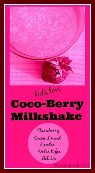 cocoberry milkshake Loula Natural Pin