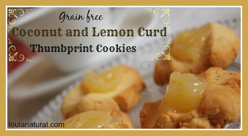 Coconut and Lemon Curd Thumbprint cookies
