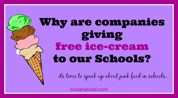 Junk Food in Schools Loula Natural FB