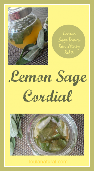 Lemon and sage cordial Loula Natural Pin