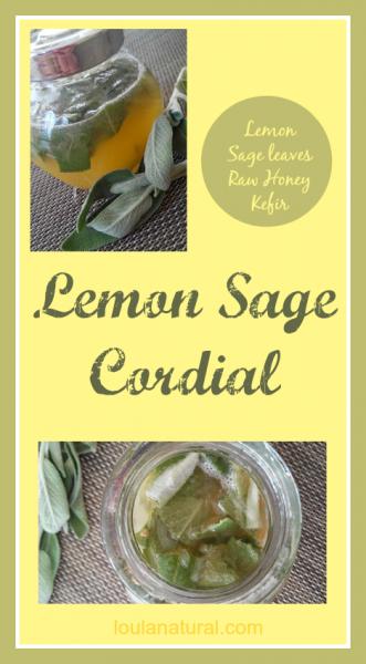 Lemon and sage cordial Loula Natural Pin