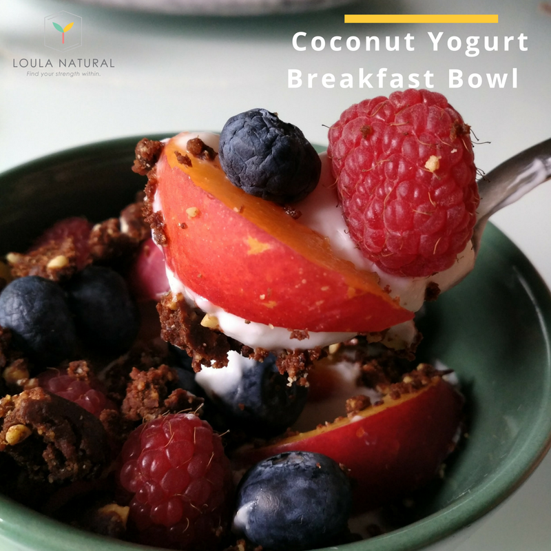 Coconut Yoghurt breakfast bowl