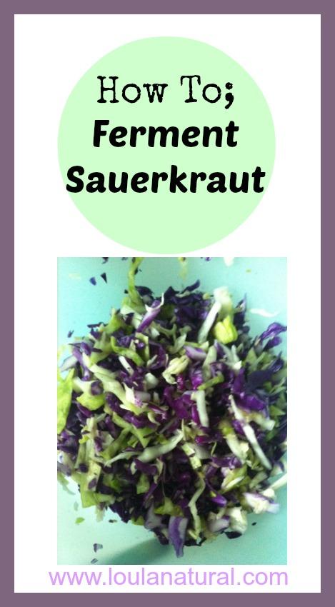How To; Ferment Sauerkraut