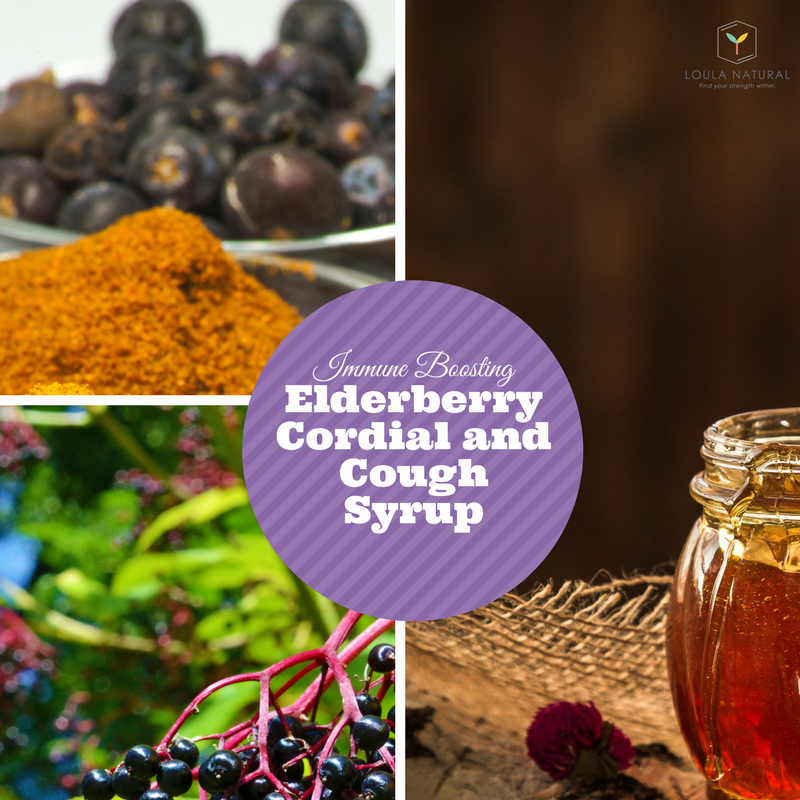 Elderberry Cordial and Cough Syrup