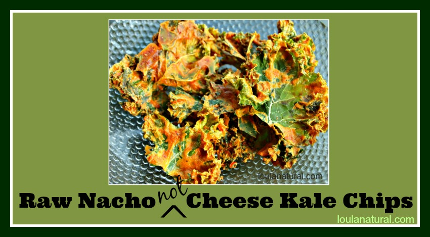 Raw Nacho Not Cheese Kale Chips