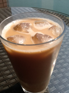 Homemade Cold Brew Iced Mocha With Almond Milk
